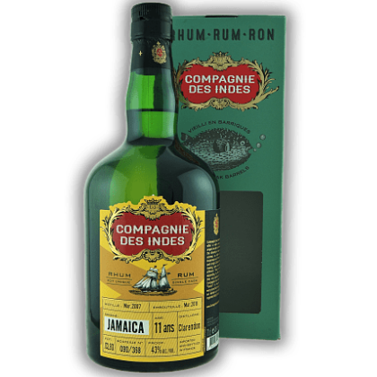Compagnie Des Indes Jamaica Single Cask 11 Ans (Clarendon) 43%