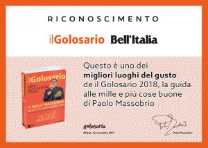 Riconoscimento Bell'Italia 2017