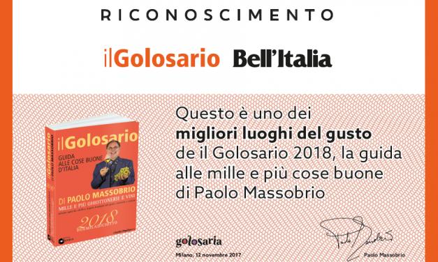 Questo è uno dei migliori luoghi del gusto de il Golosario 2018, la guida alle mille e più cose buone di Paolo Massobrio.